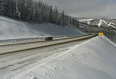 view from 4 - Highway 50 Road Conditions on 2018-01-13