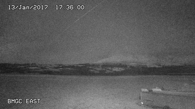 time-lapse frame, moonrise Jan 13 2017 webcam