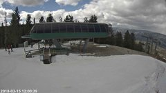 view from Angel Fire Resort - Chile Express on 2018-03-15