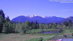 view from Olympic View Cabins Hurricane Ridge Cam on 2018-05-13