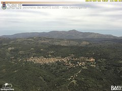 view from Monte Lusei Seui on 2018-04-30