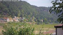 view from Webcam in Bad Schandau Sächsische Schweiz on 2018-06-10