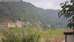 view from Webcam in Bad Schandau Sächsische Schweiz on 2018-06-11