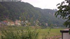 view from Webcam in Bad Schandau Sächsische Schweiz on 2018-06-13