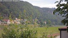 view from Webcam in Bad Schandau Sächsische Schweiz on 2018-06-15