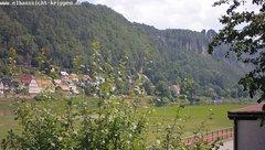 view from Webcam in Bad Schandau Sächsische Schweiz on 2018-06-16