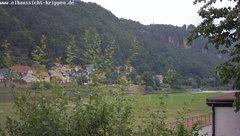 view from Webcam in Bad Schandau Sächsische Schweiz on 2018-06-18
