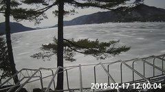 view from Bluffhead Hullets Landing, NY on 2018-02-17