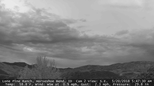 time-lapse frame, Horseshoe Bend, Idaho CAM2 webcam