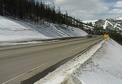 view from 4 - Highway 50 Road Conditions on 2018-03-26