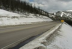 view from 4 - Highway 50 Road Conditions on 2018-04-23