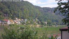 view from Webcam in Bad Schandau Sächsische Schweiz on 2018-06-19