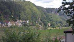 view from Webcam in Bad Schandau Sächsische Schweiz on 2018-06-20