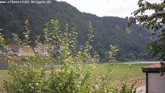 view from Webcam in Bad Schandau Sächsische Schweiz on 2018-06-21