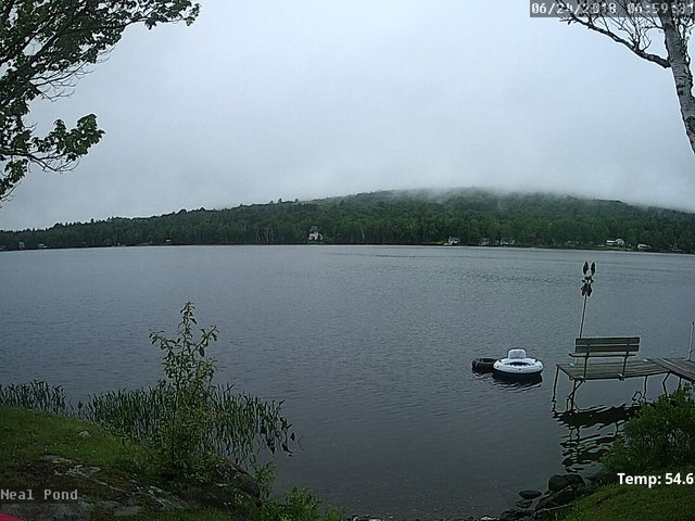 time-lapse frame, Neal Pond webcam