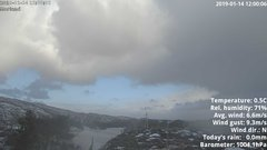 view from 1 Sotra island, W-Norway on 2019-01-14