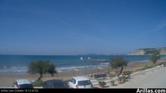 view from Arillas Corfu Live Webcam on 2018-10-16