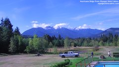 view from Olympic View Cabins Hurricane Ridge Cam on 2018-09-18