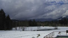view from Olympic View Cabins Hurricane Ridge Cam on 2019-03-09