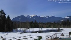 view from Olympic View Cabins Hurricane Ridge Cam on 2019-03-16