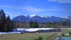 view from Olympic View Cabins Hurricane Ridge Cam on 2019-03-19