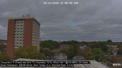 view from University Place Apartments - North Weather on 2018-10-13