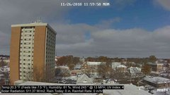 view from University Place Apartments - North Weather on 2018-11-26
