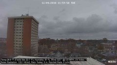view from University Place Apartments - North Weather on 2018-12-04