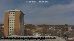 view from University Place Apartments - North Weather on 2018-12-11