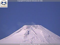 view from Villarrica Volcano on 2019-04-15