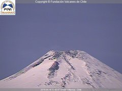 view from Villarrica Volcano on 2019-04-16