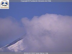view from Villarrica Volcano on 2019-04-19