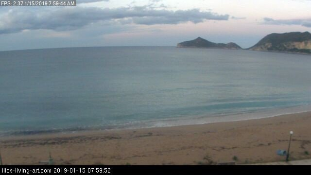 time-lapse frame, Agios Georgios NW Corfu Greece webcam