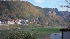 view from Webcam in Bad Schandau Sächsische Schweiz on 2018-10-20