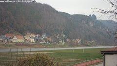 view from Webcam in Bad Schandau Sächsische Schweiz on 2018-11-30