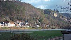 view from Webcam in Bad Schandau Sächsische Schweiz on 2018-12-04