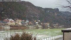 view from Webcam in Bad Schandau Sächsische Schweiz on 2019-01-12