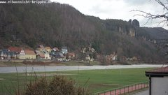view from Webcam in Bad Schandau Sächsische Schweiz on 2019-01-14