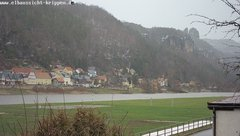 view from Webcam in Bad Schandau Sächsische Schweiz on 2019-01-15