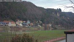view from Webcam in Bad Schandau Sächsische Schweiz on 2019-03-04