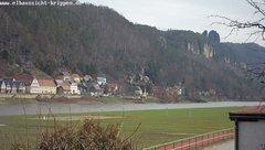 view from Webcam in Bad Schandau Sächsische Schweiz on 2019-03-07