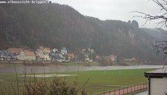 view from Webcam in Bad Schandau Sächsische Schweiz on 2019-03-10