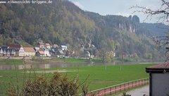 view from Webcam in Bad Schandau Sächsische Schweiz on 2019-04-08