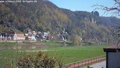 view from Webcam in Bad Schandau Sächsische Schweiz on 2019-04-15