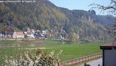 view from Webcam in Bad Schandau Sächsische Schweiz on 2019-04-18