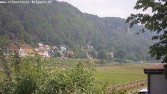 view from Webcam in Bad Schandau Sächsische Schweiz on 2019-06-11