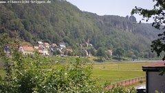 view from Webcam in Bad Schandau Sächsische Schweiz on 2019-06-12