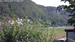 view from Webcam in Bad Schandau Sächsische Schweiz on 2019-08-14
