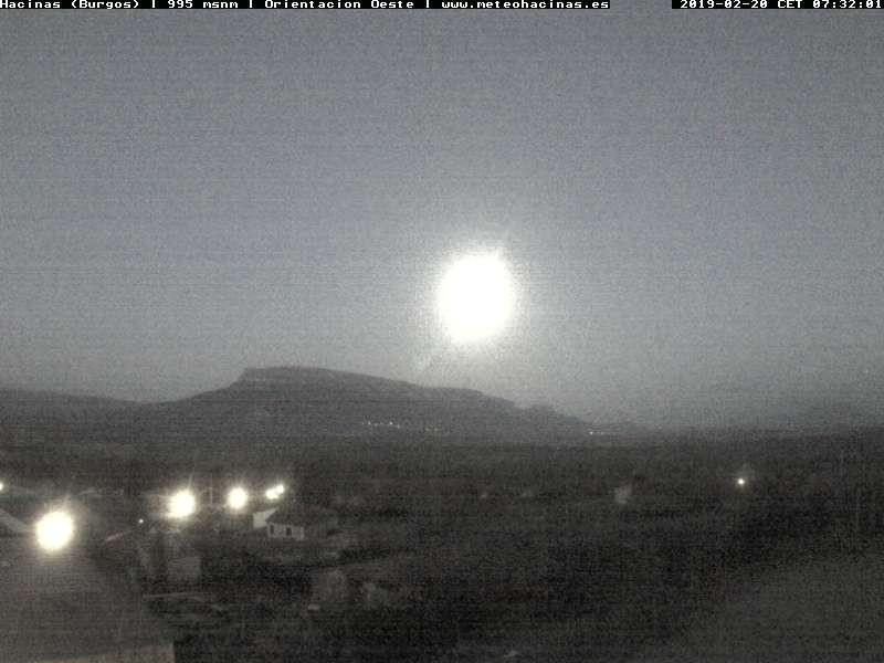 time-lapse frame, Meteo Hacinas webcam