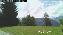 view from Verbier Snowcam2 on 2018-08-08